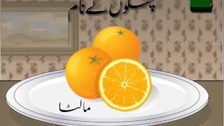 Names of some common fruits in Urdu language for kids to learn Urdu in a fun way and to increase their vocabulary. اردو زبان میں چند پھلوں کے نام.