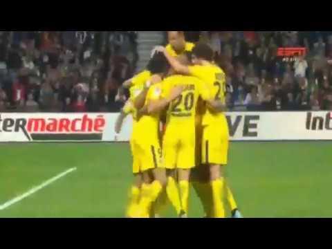 NEYMAR DEBUT GOAL   PSG VS GUINGAMP 3-0   Ligue 1 (13/08/2017)
