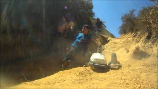 7. Electric dirt bike riding on extremely steep technical terrain on 2012 Zero MX's