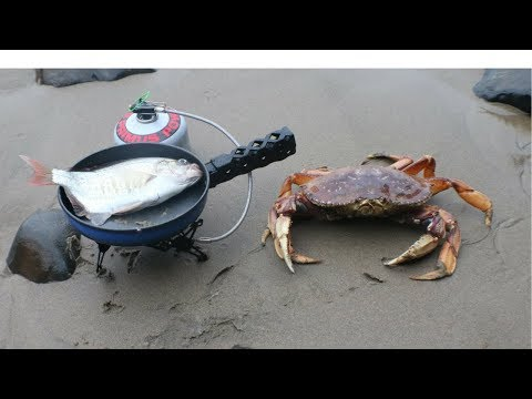 Catch n' Cook Dungeness Crab and Perch in a Sea Cave!