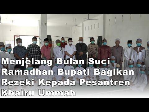 Bupati Batu Bara Berikan Bantuan 50 Paket Sembako Kepada Pesantren Khairu Ummah