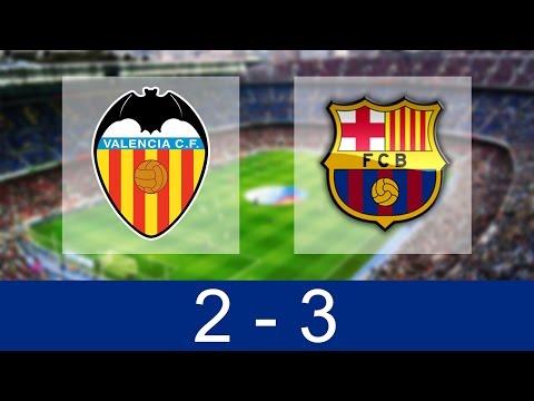 Valencia vs Barcelona 2-3 | All Goals and Highlights 22/10/2016 [HD]