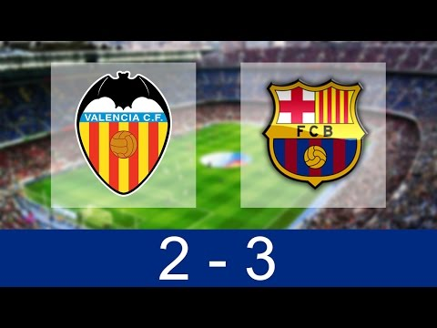 Valencia Vs Barcelona 2-3 | All Goals And Highlights 22/10/2016 [HD]