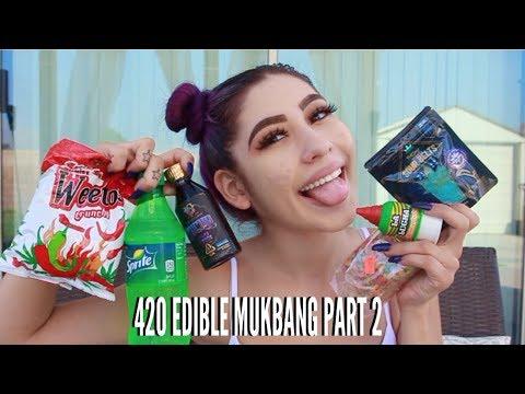 420 EDIBLE MUKBANG PART 2 // LIFEBEINGDEST (видео)