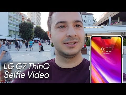 LG G7 ThinQ Selfie Video