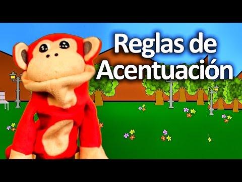 Cómo acentuar las palabras en español - Reglas ortografía con El Mono Sílabo - Videos Infantiles