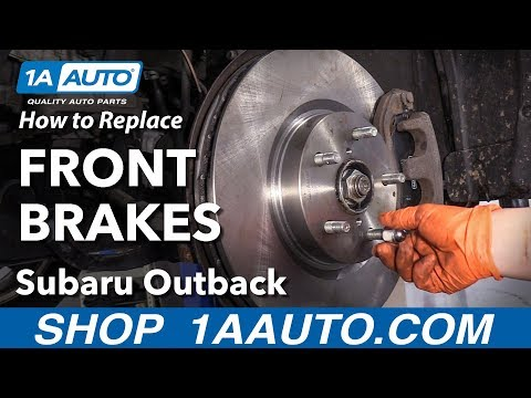 How to Replace Front Brakes 15-19 Subaru Outback