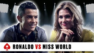 Video PokerStars Duel: Cristiano Ronaldo Vs. Miss World MP3, 3GP, MP4, WEBM, AVI, FLV Desember 2018