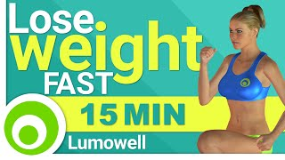 15 minute workout too lose weight fast at home, easy body-weight exercises for burning fat, training muscle and improving health. The video shows a low impac...