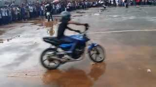 Kollam India  city photos gallery : bike stunt in Kollam kerala India