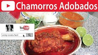 Receta de cómo preparar Chamorros en Adobo o Codillos de cerdo en adobo. Esta receta te fascinará!! Quedan super blanditos y deliciosos! :D ¿Qué esperas?