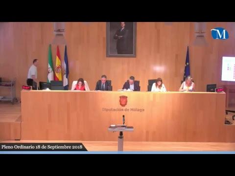 Pleno ordinario de la Diputación de Málaga del mes de septiembre