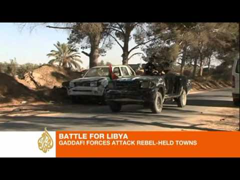Gaddafi forces attack rebel-held towns