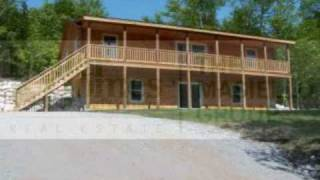 Custom Log Cabin For Sale in Bridgton, 3 BR 2 BA 5.44 Acres! $252,484