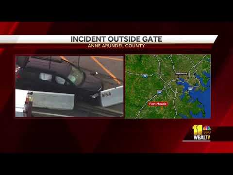 Authorities investigate shooting at NSA gate