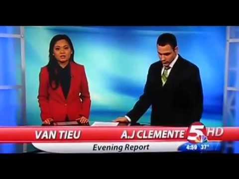 "Viral - KFYR News Anchor A.J. Clemente Drops F-bomb in TV Gaffe - Says ""Gay Fu#king Sh#t"""