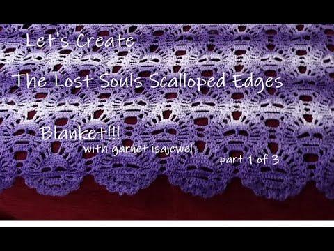 Lost Souls Scalloped Edges Blanket-garnet isajewel- Part 1 of 3
