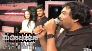 Video Mehbooba Team Hungama at VIT University | Puri Jagannadh | Akash Puri | Neha Shetty MP3, 3GP, MP4, WEBM, AVI, FLV April 2018