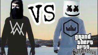 KACAU...!!! ALAN WALKER VS MASRHMELLO (gta san mod)