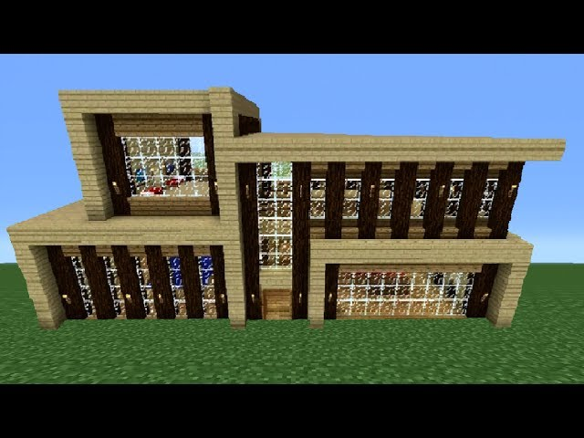modern house number ideas minecraft 360 modern ish house tutorial large modern house