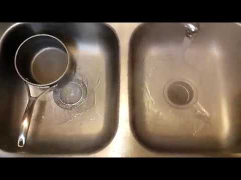 Clear your drain with baking soda and vinegar