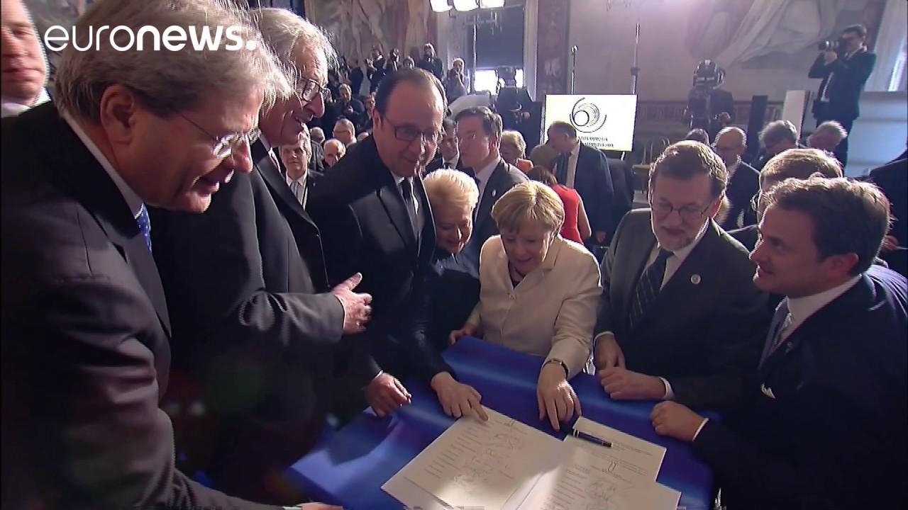 Βίντεο: Το μπέρδεμα με τις υπογραφές στην Διακήρυξη της Ρώμης!