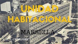 """La unidad habitacional de Marsella es uno de los proyectos icónicos de Le Corbusier y una de las referencias básicas para cualquier arquitecto. Comenzó a ser planeada inmediatamente después de la Segunda Guerra Mundial (1945-46), por la gran necesidad de viviendas que acarreó a la ciudad a consecuencia de esta. Con el sistema de viviendas colectivas, Le Corbusier se opone a la """"manía de las casas unifamiliares"""". En lugar de ello, optó por rascacielos como unidades de arquitectura.El presente ensayo pretende analizar y explicar la obra de la Unidad Habitacional de Marsella, una de las obras más emblemáticas de Le Corbusier por ser el inicio del concepto de grandes bloques habitacionales."""