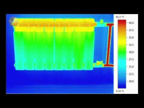 Термография охлаждения батареи