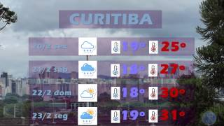 CURITIBA - Previsão do tempo de 20 a 23 de fevereiro de 2015. Lizandro Jacóbsen, meteorologista.