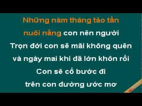 Con Yêu Mẹ karaoke beat - Ca sĩ Bảo Thy