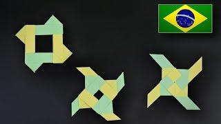 Video Origami: Estrela Ninja que se transforma - Instruções em Português BR MP3, 3GP, MP4, WEBM, AVI, FLV Mei 2017