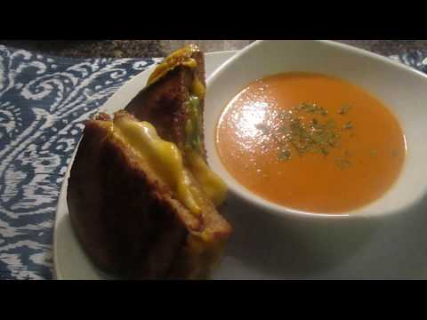 Jalapeno Grilled Cheese & Creamy Tomato Soup