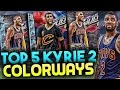 TOP 5 NIKE KYRIE 2 COLORWAYS! TOP 5 KYRIE 2 SHOES! BEST KYRIE 2 COLORWAYS!