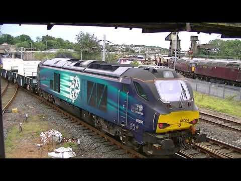 DRS 68006 tnt 68004 6C51 Flasks Carnforth 05082020