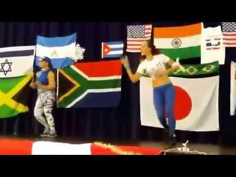 Representing Honduras, Holiday International Zumba Master class
