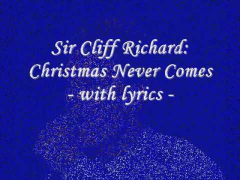 Cliff Richard - Christmas Never Comes lyrics