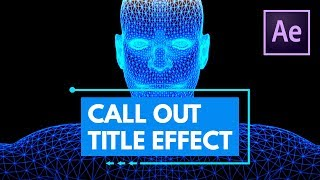 Call Out Titles or Lower Thirds with Animated Border in After Effects