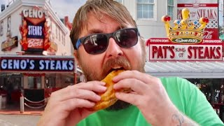 The Best Philly Cheesesteak ? Pat's VS Geno's - Famous Philadelphia Food Rivalry