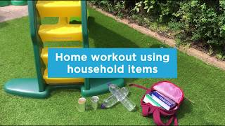 Home workout using household items
