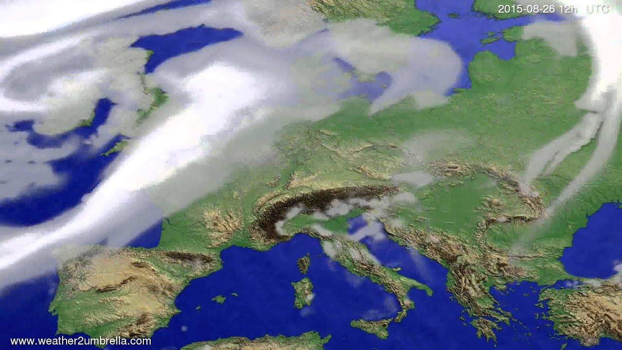 Cloud forecast Europe 2015-08-23