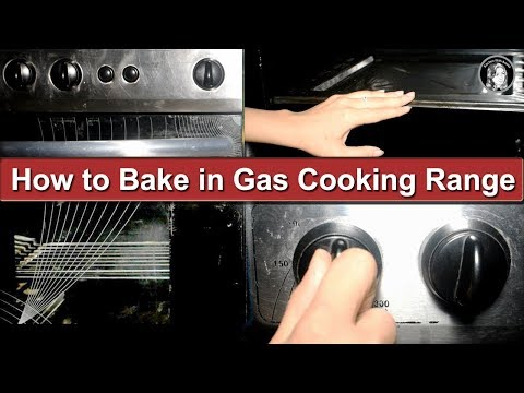 How to Bake in Gas Cooking Range Oven in Urdu/Hindi - Kitchen With Amna