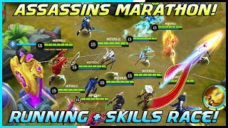 Video Assassins Running + Skills Race Tournament! | Mobile Legends Bang Bang | MLBB MP3, 3GP, MP4, WEBM, AVI, FLV April 2019
