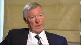 Sir Alex Ferguson gets ruffled by Channel 4 News' Jon Snow