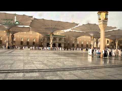 مطر وبرد الجمعة 24-12-1433هـ على الحرم بالمدينة المنورة