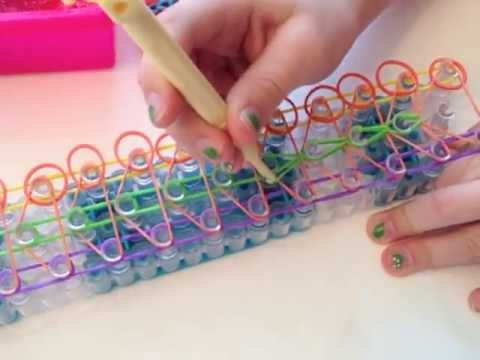 How to Make a Double Rainbow Loom Bracelet (6 rows!)