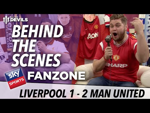 Behind The Scenes At Sky Fanzone | Liverpool 1 - 2 Manchester United | Gerrard Hahaha!