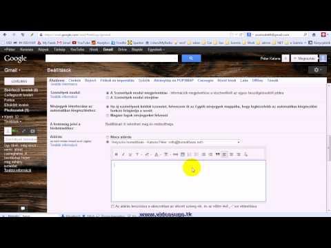 Gmail automatikus aláírás használata