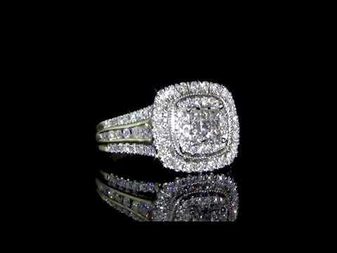 Lady's 10k Yellow/White Gold 1.0ct (TDW) Cluster Diamond Ring