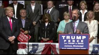 Jackson (MS) United States  city photos gallery : Nigel Farage With Donald Trump In Jackson Mississippi FULL Speech 8/24/16