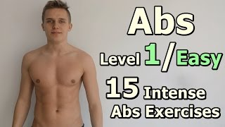 ABS Level 1 / Easy / 15 Intense  Abs Exercises